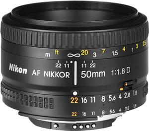 NIKON AF-50mm-F/1.8-D Camera Lens